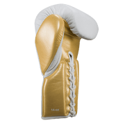 White & Gold Lace-up - Pro boxing series - Windy Fight Gear