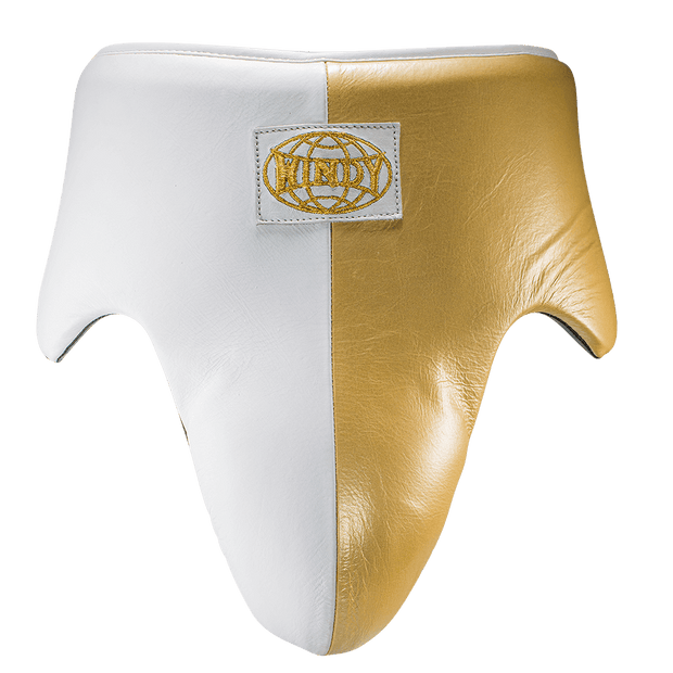 White & Gold Groin Guard - Pro boxing series - Windy Fight Gear