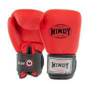 Classic Synthetic Leather Boxing Gloves - Crimson Red