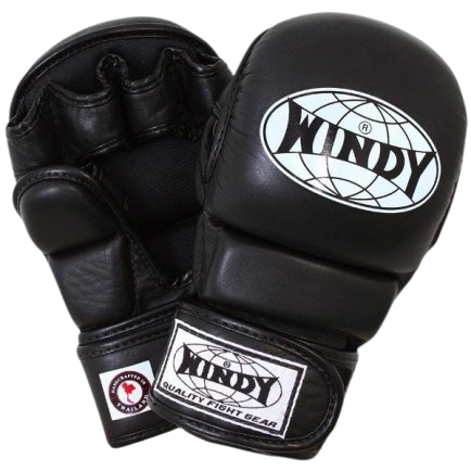Windy MMA Hybrid Gloves - Black - Windy Fight Gear