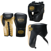 Pro Boxing Sparring Set - Black Gold - Windy Fight Gear