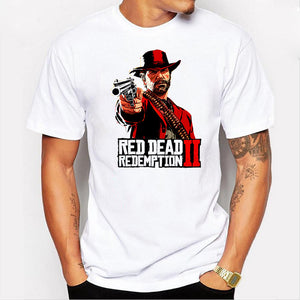 Casual Letter Printed Top Quality Men'S Tees Best Red Dead Redemption