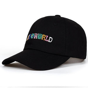Travis Scott ASTROWORLD Embroidered Cotton Baseball Caps