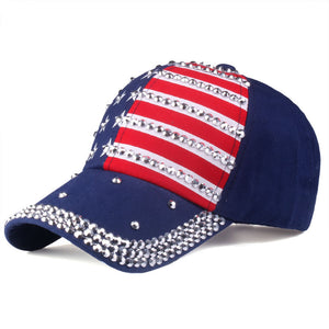 The American flag Baseball caps