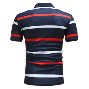 Stripe Men's Casual Fashion Polo Shirt