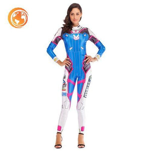 OW Hero DVA Costume Cosplay Jumpsuit For Women