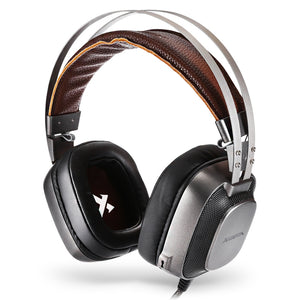 XIBERIA K10 Over-ear Gaming Headset USB PC Headphones with Colorful LED Lights