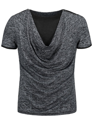 Marled Cowl Neck T-shirt