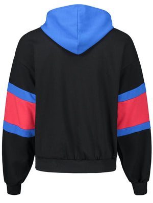 Color Block Kangaroo Pocket Hoodie with Drawstring