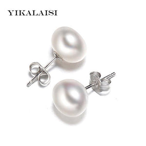 YIKALAISI Pearl Earrings Jewelry 925 sterling silver jewelry