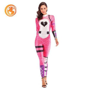 Halloween Pink Bear Costume Cosplay Jumpsuit