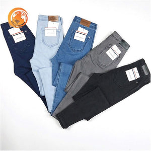 Denim pants high elastic Skinny