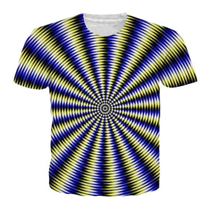Black And White Vertigo Hypnotic Printing T Shirt Funny