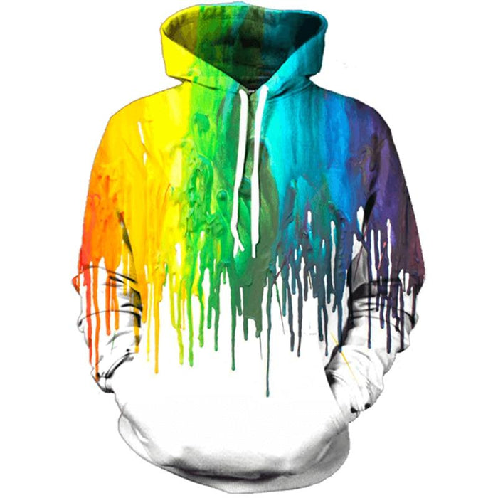 3D Rainbow Hoodies
