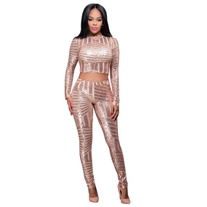 Leaf Sequins African Design Women Sexy Bodysuit