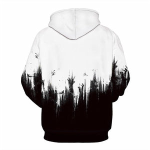 Punk Style Halloween Hoodies 3D Horror Fingers Hands Printed Sweatshirt