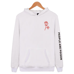People Are Poison Rose Print Hoodies High Quality