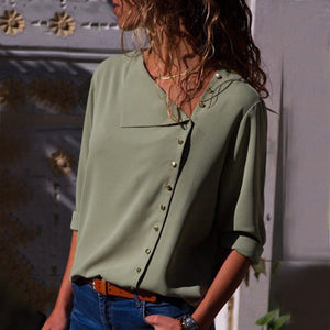 Chiffon Blouse Long Sleeve Women