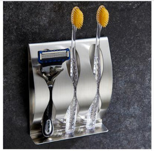 Toothbrush Shaver Holder Rustproof Polished Stainless Steel