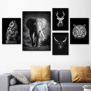 Animals Wall Art Canvas Painting