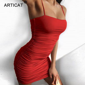 Articat Black Sexy Bodycon Summer Dress