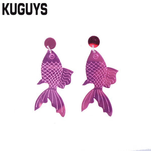 Fashion Acrylic Jewelry Fish