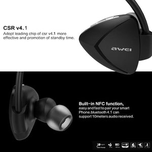 AWEI 840 Waterproof Bluetooth Earphones Wireless Earbuds With Mic Stereo Headset