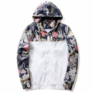 Floral Bomber Jacket Coat