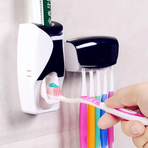 Bathroom Touch me Automatic Toothpaste Dispenser + 5pcs Toothbrush