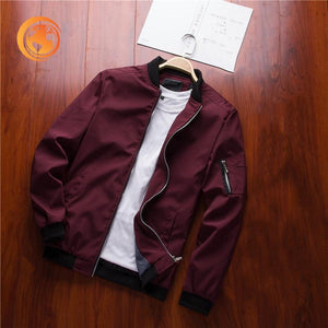 Bomber Jacket Male Casual Streetwear
