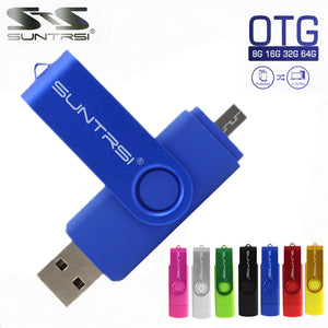 Suntrsi Smart Phone USB Flash Drive Metal Pen Drive 64gb