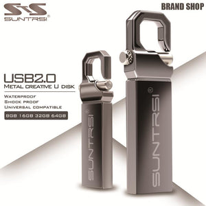 Suntrsi USB Flash Drive 64GB Metal Pendrive High Speed