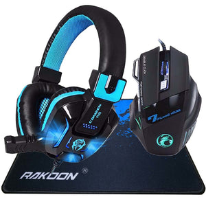 Caleen R8 Hifi Pro Gaming Headphone Game Headset+X8 3200DPI USB Wired Gaming Mouse
