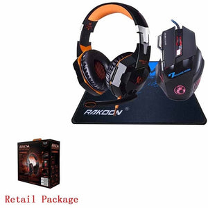 5500 DPI X7 Pro Gaming Mouse+ Hifi Pro Gaming Headphone Game Headset + Mouse pad GIFT IDEA