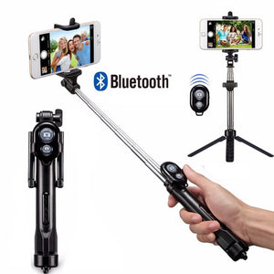 Rovtop Tripod Monopod Selfie Stick Bluetooth With Button Selfie Stick For Android OS For Iphone 6 7 8 Plus IOS