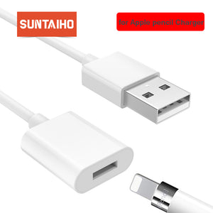 Suntaiho Charger for Apple Pencil Adapter Charging Cable Cord For Apple iPad Pro Pencil Stylus Male to Female Extensio USB Cable