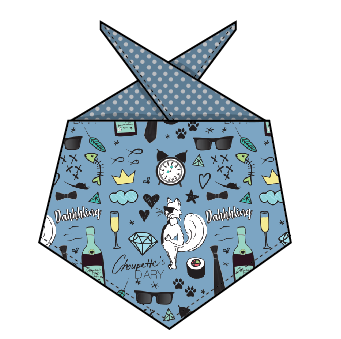 Fox Named Todd x CD - Blue Special Edition Tie-Around Bandana