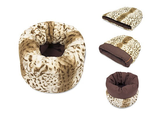P.L.A.Y. Pet X CD - Play Pet Snuggle Bed (Leopard Brown)