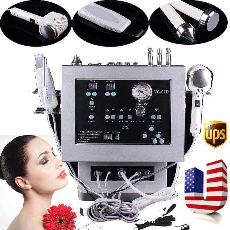 4 in 1 Diamond Microdermabrasion Dermabrasion Ultrasonic Peeling Hot and Cold Machine - ibeautyneed