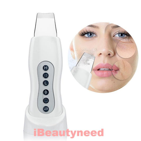 Ultrasonic Vibration Face Peeling Clean Tone Lift Scrubber Massager - ibeautyneed