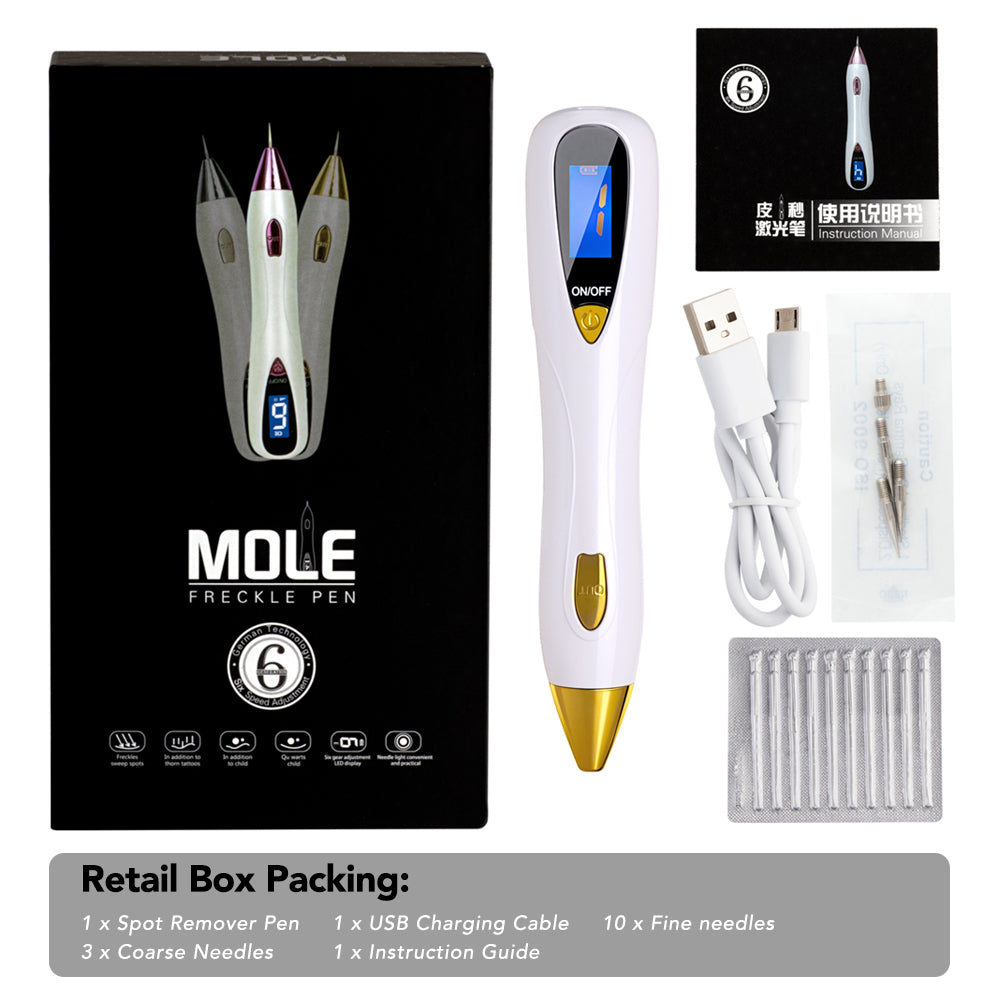 LCD Display Plasma Laser Skin Tag Mole Tattoo Removal Pen - ibeautyneed