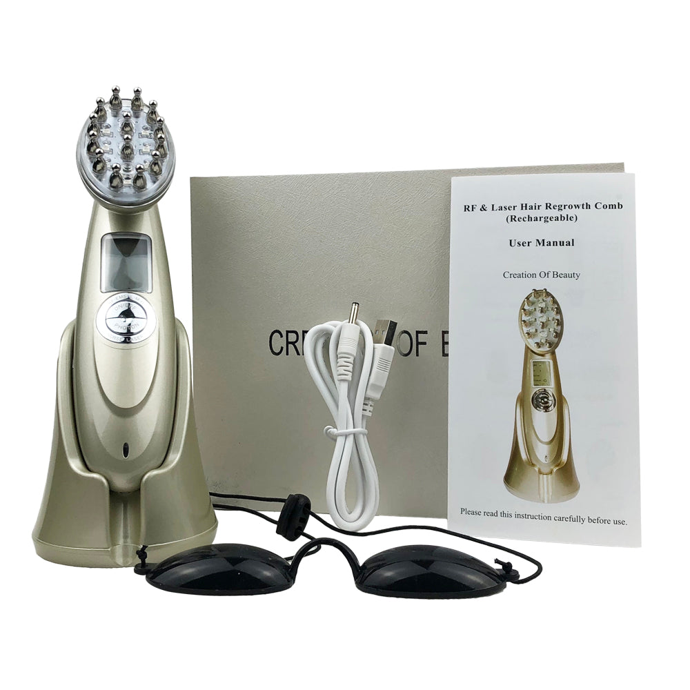 Laser Hair Growth Comb RF Hair Massage Brush Comb-iBeautyneed