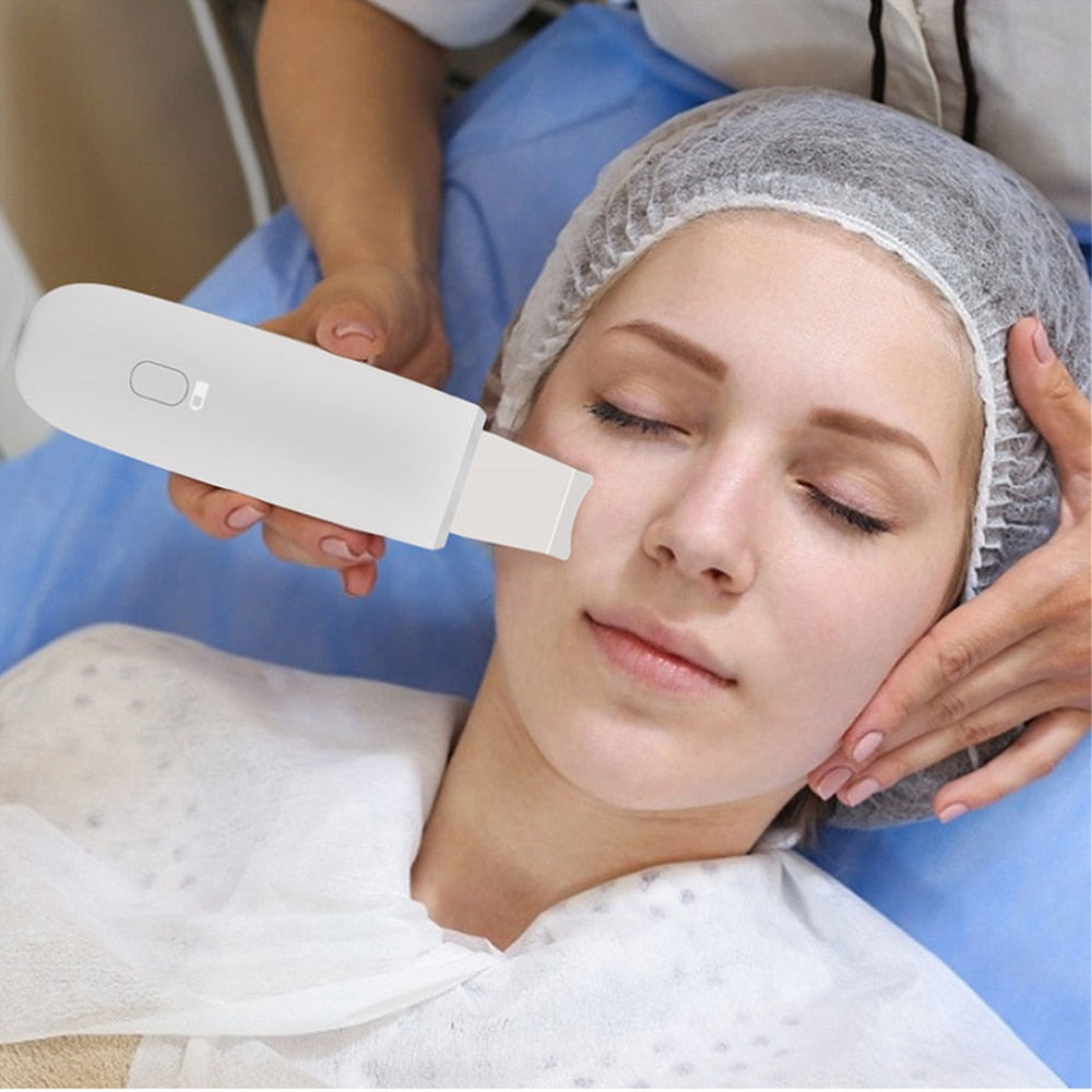 Ultrasonic Skin Scrubber Deep Cleaning Vibrating Facial Cleansing Spatula Beauty Device-iBeautyneed