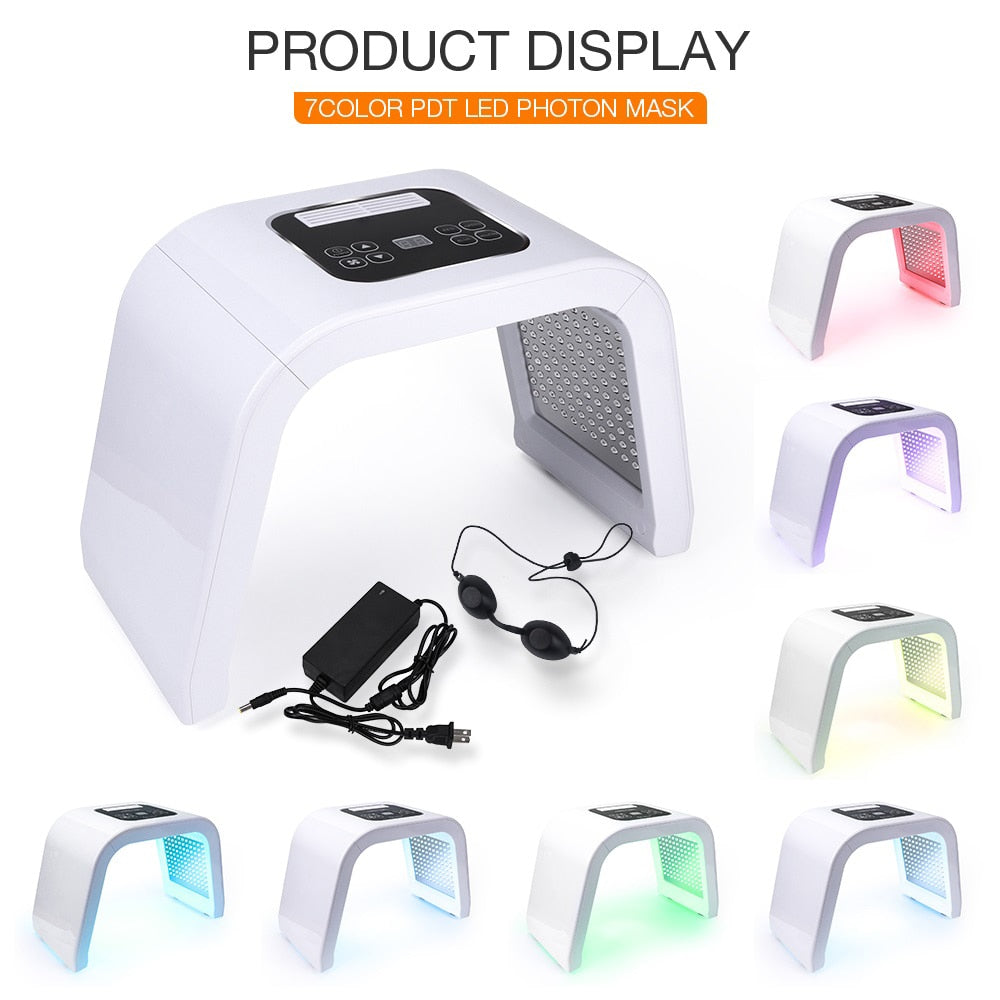 7 Colors PDF Led Photon Skin Rejuvenation Acne Removal Mask - ibeautyneed