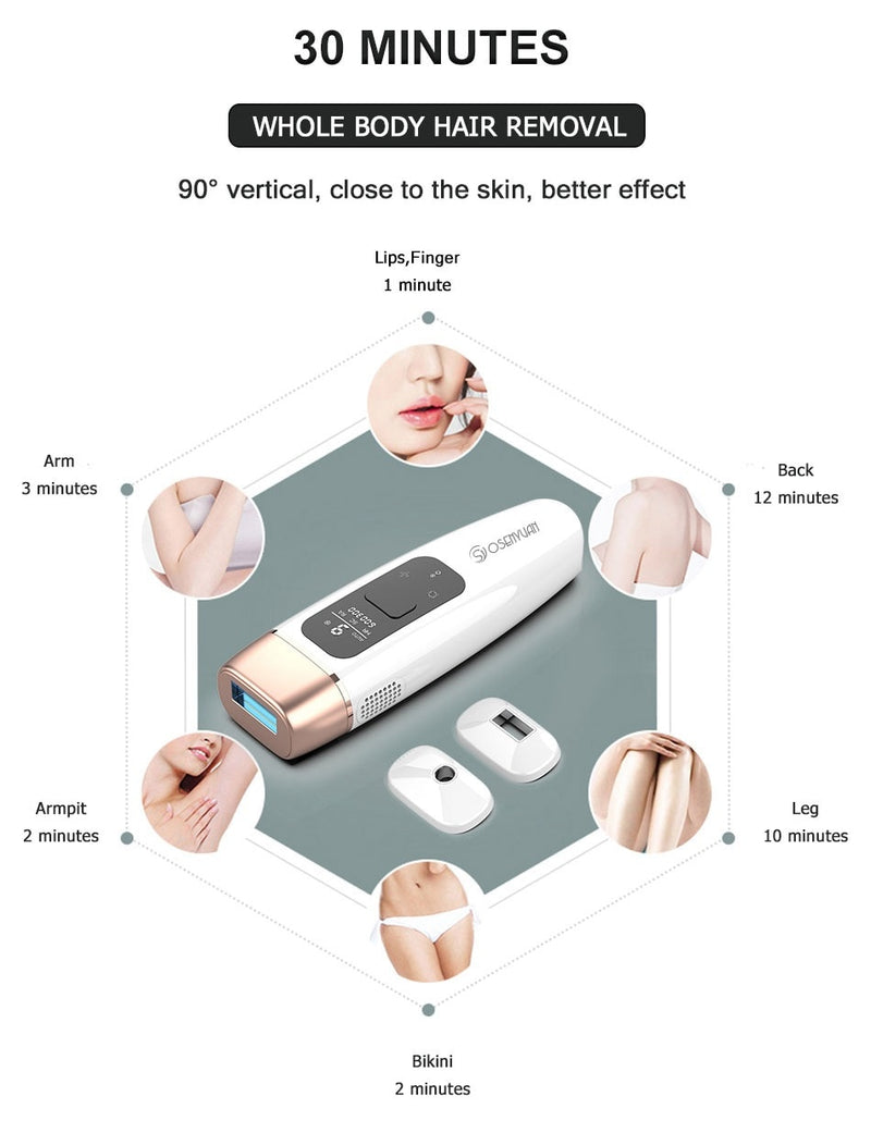 4 in 1 Icecool IPL Permanent Laser Hair Removal  Laser Epilator