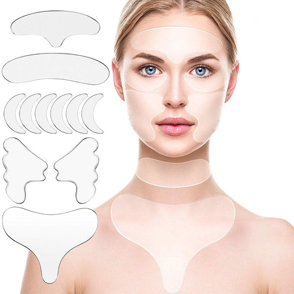 11/16 Pcs Reusable Silicone Wrinkle Removal Sticker Face Forehead Neck Anti Wrinkle