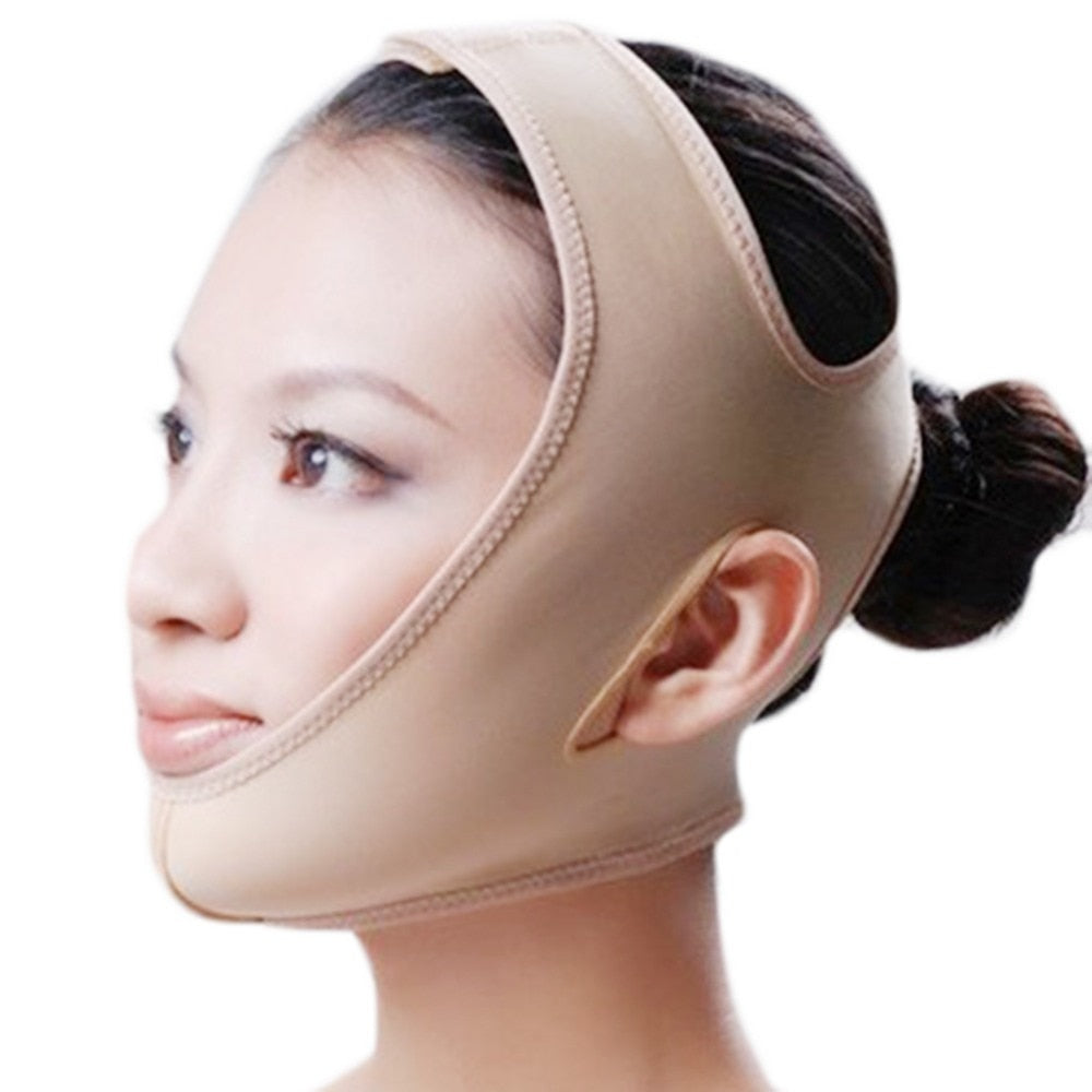 Facial Lifting Belt V Line Mask Neck Compression Double Chin Strap-iBeautyneed