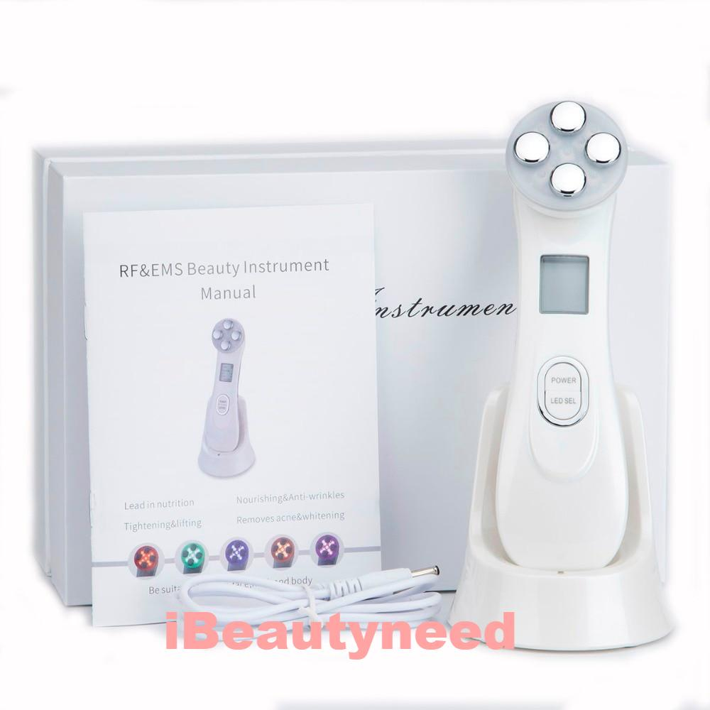 5 in 1 RF & EMS LED Photon Mesotherapy Electroporation Face Beauty Device - ibeautyneed