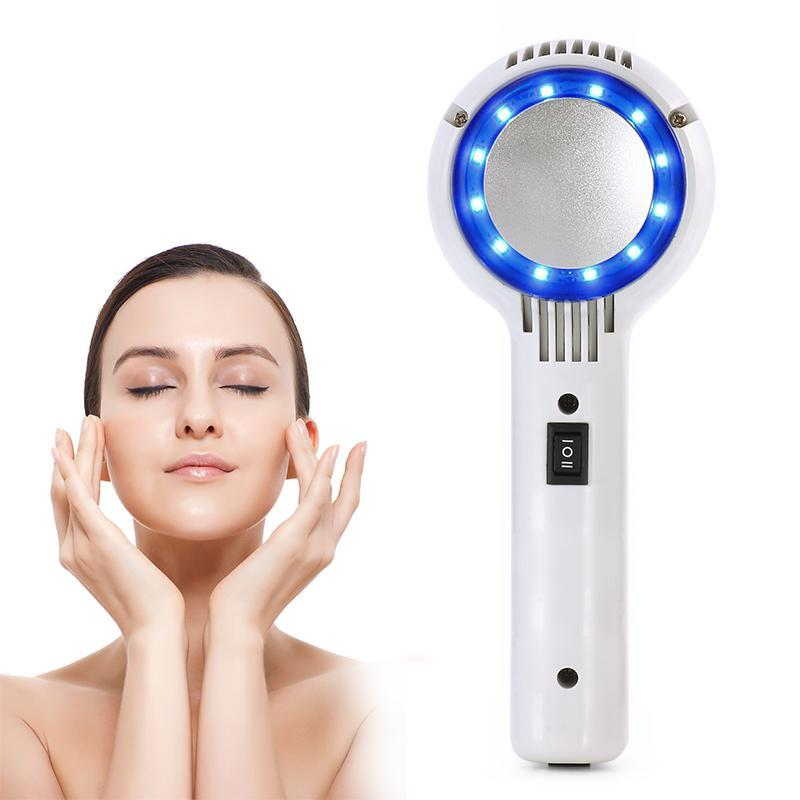 Blue LED Hot Cold Hammer Skin Tightening Shrink Pore Face Care Beauty Machine - ibeautyneed