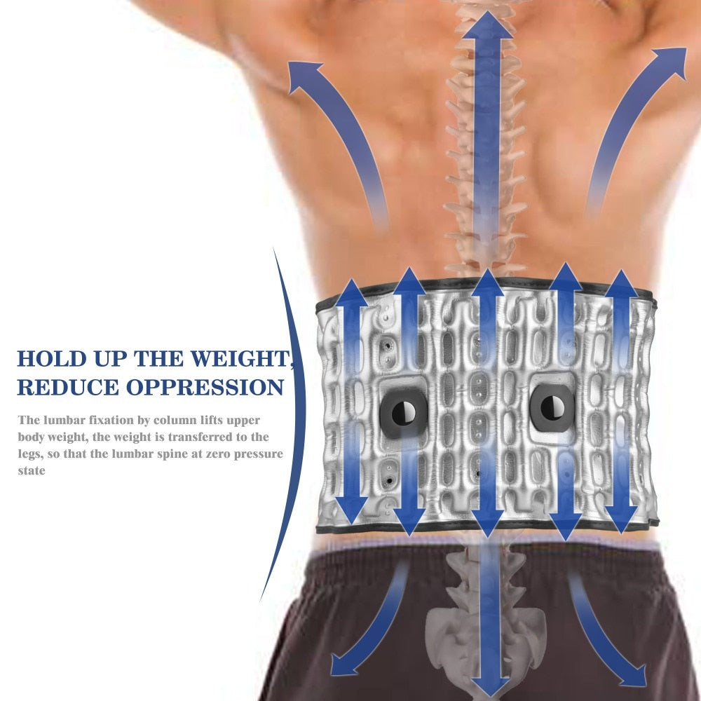 Brace Support Belt Physio Decompression Lumbar Traction Massager - ibeautyneed